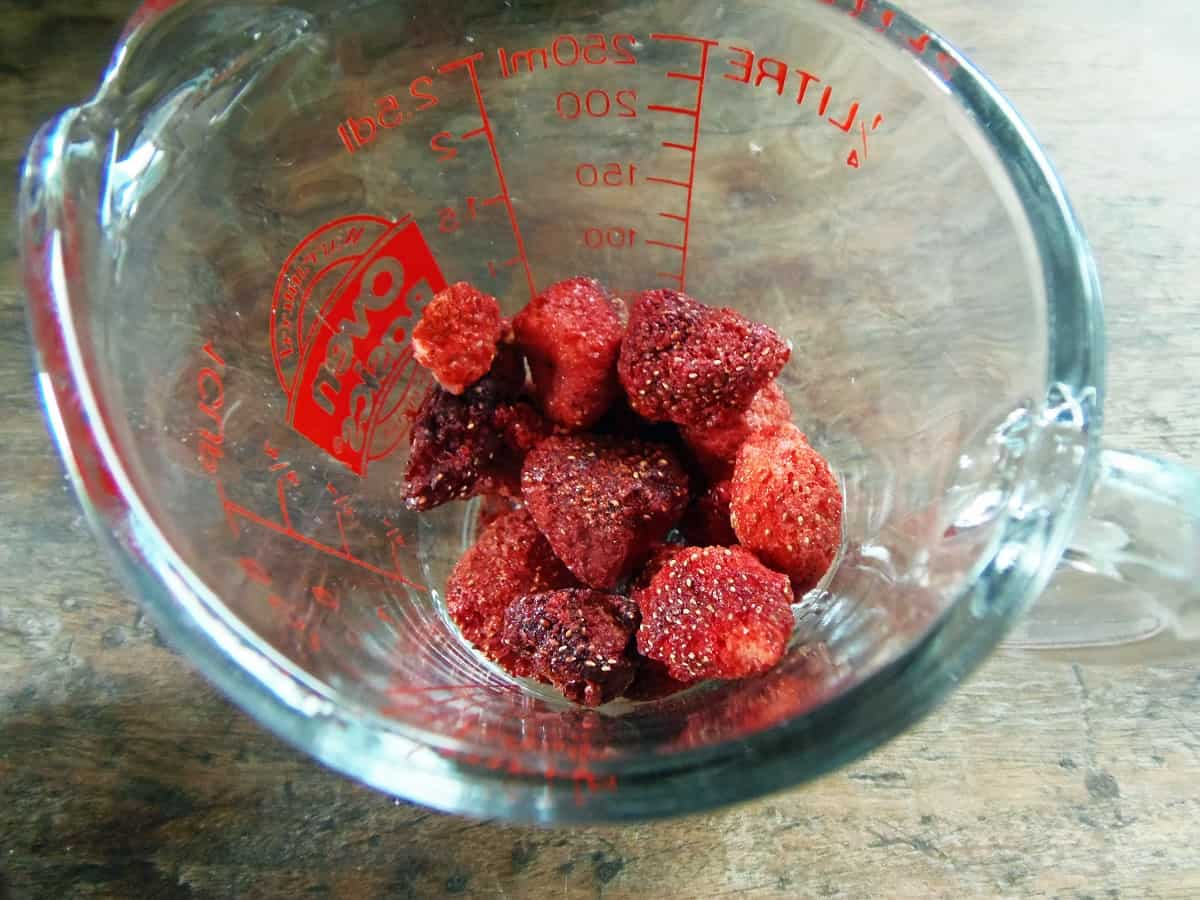 Half a Cup of Freeze-Dried Strawberries