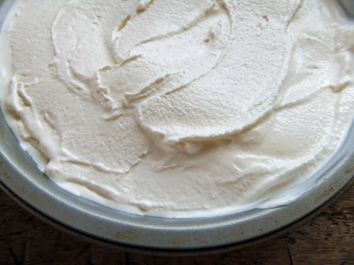 Transfer Buttermilk Ice Cream to a Freezer-Safe Container