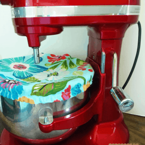 How to Sew a Stand Mixer Bowl Cover Pinterest Graphic