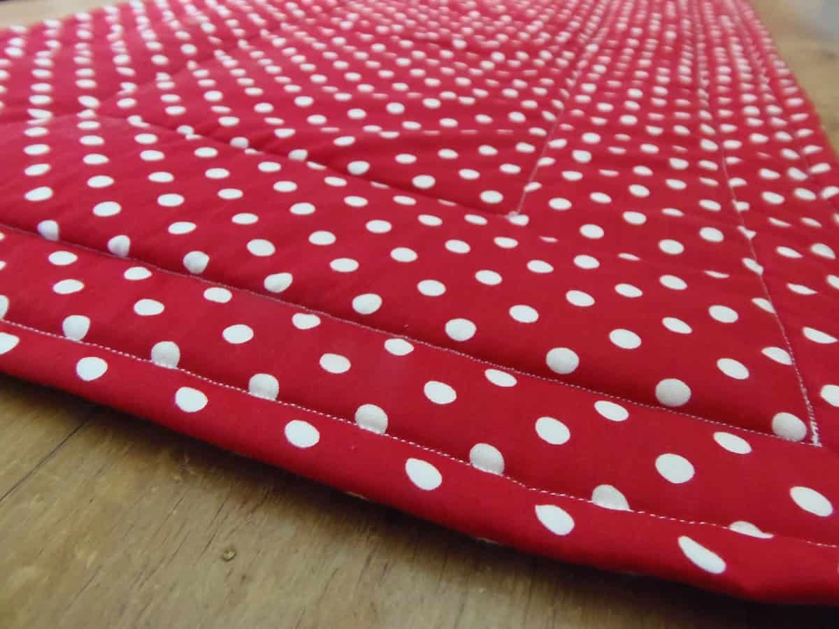 Back of Hot Pad Table Runner