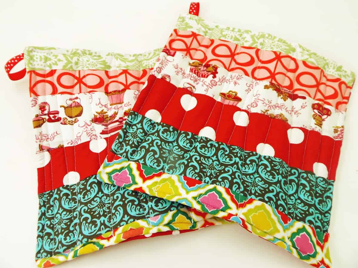 Fabric Scrap Potholders