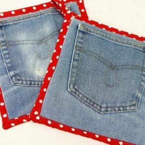 How to Make Jean Pocket Potholders