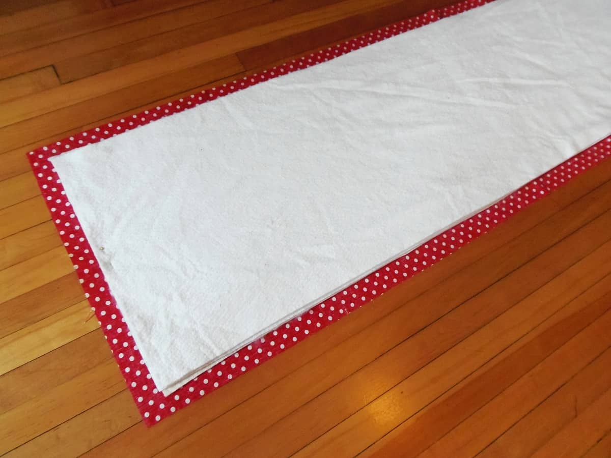 Lay Batting on Top of Backing Fabric