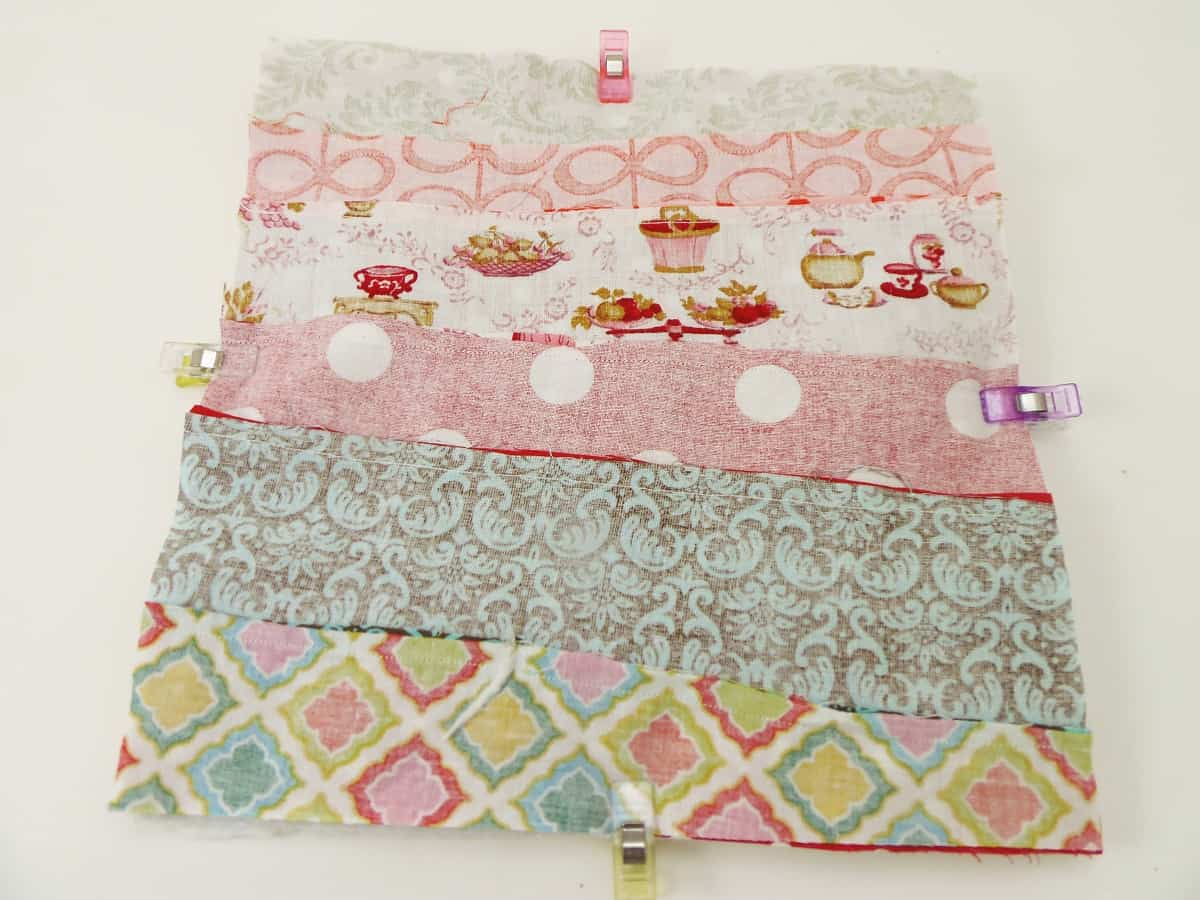 Pin or Clip All the Layers of the Potholder Together