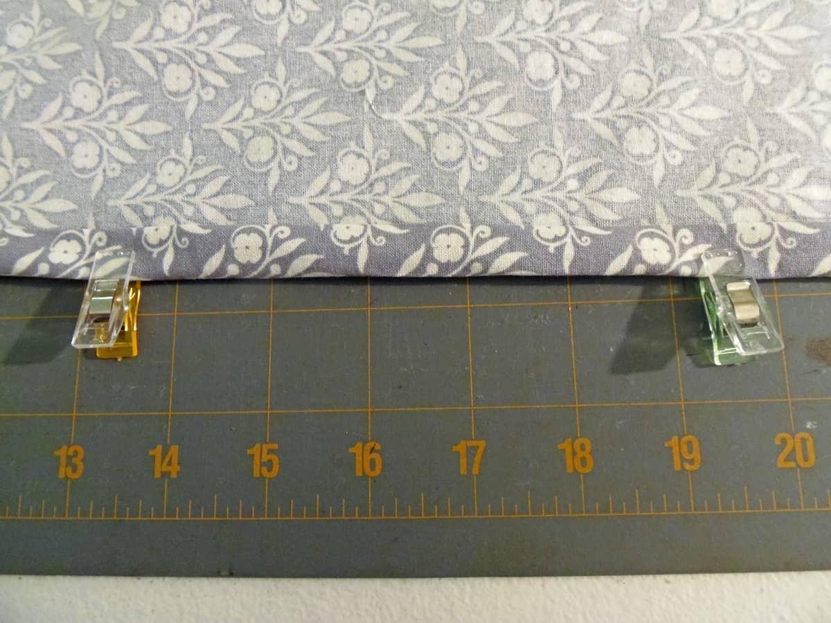 Fold and Pin the Napkin Hems
