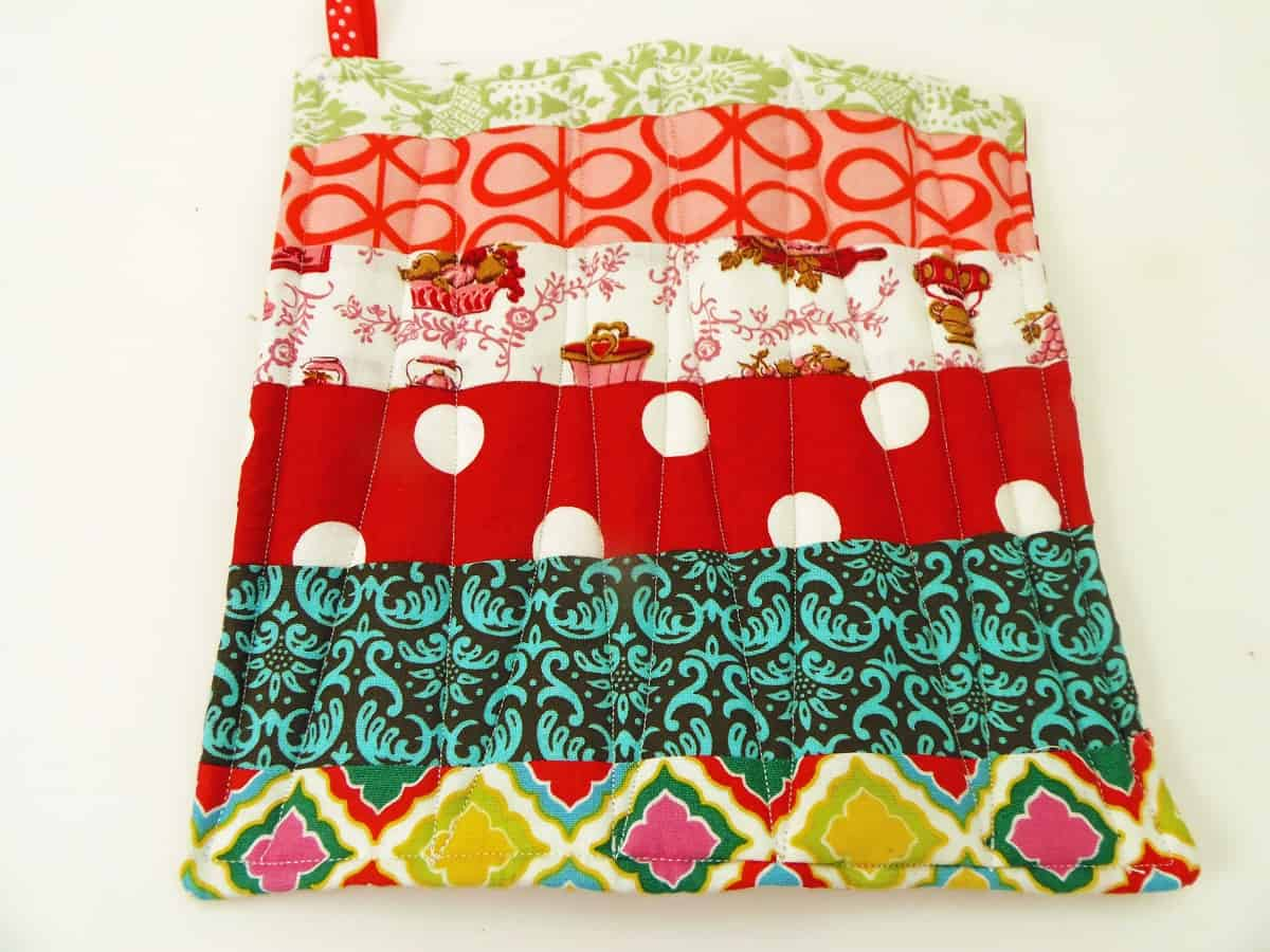 Quilt Your Fabric Scrap Potholder