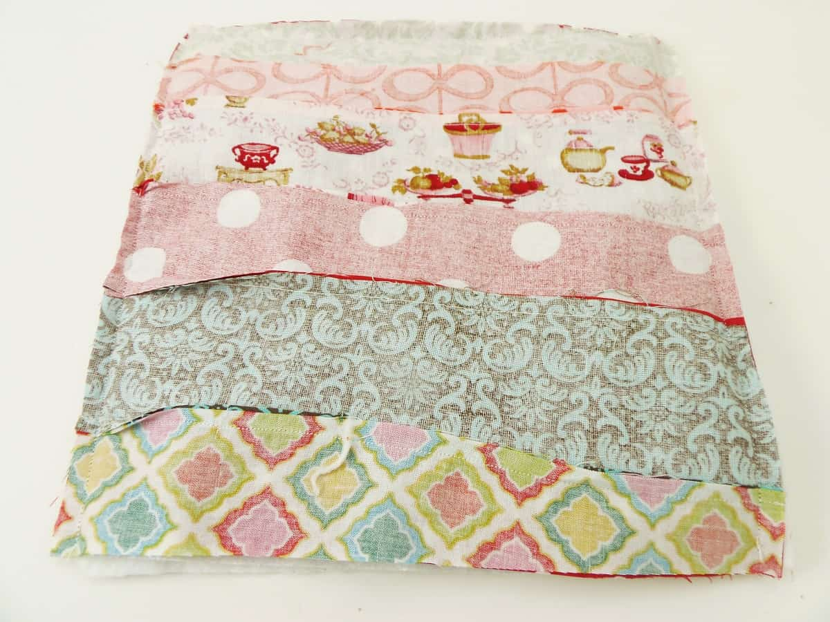 Sew a 1/4-inch Seam Around Three Sides of Potholder