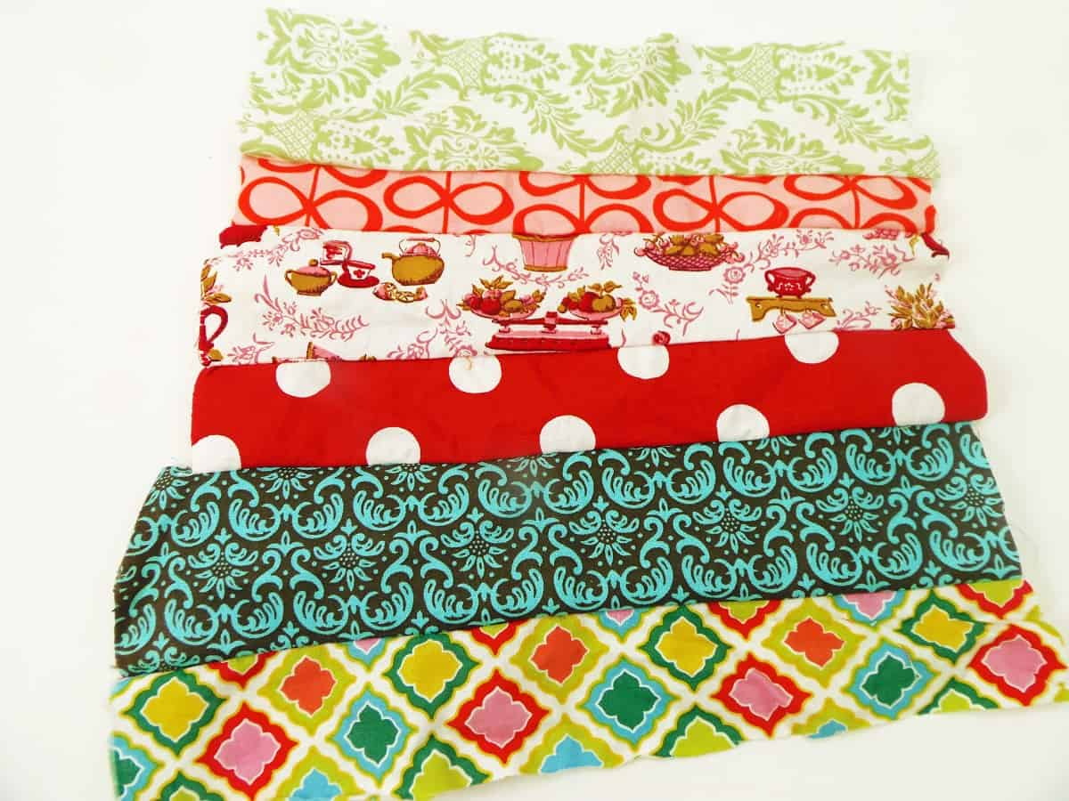 Sew Rows of Fabric Scraps Together