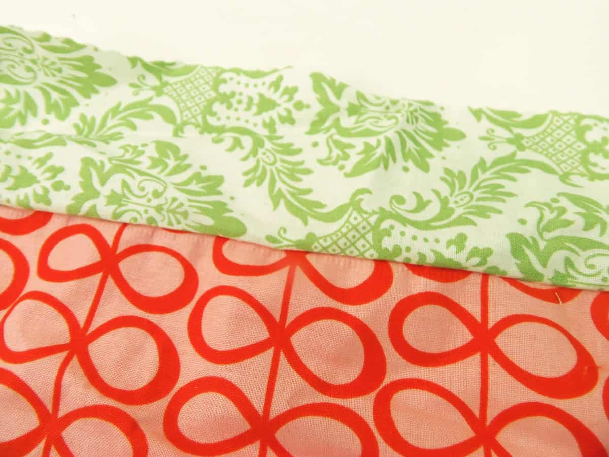 Sew Two Fabric Scraps Together
