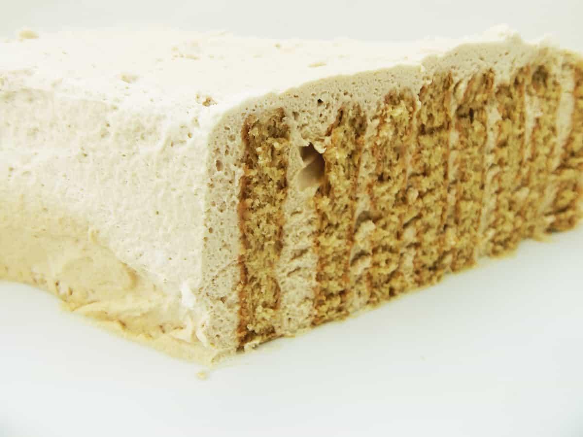 Sliced Coffee Icebox Cake