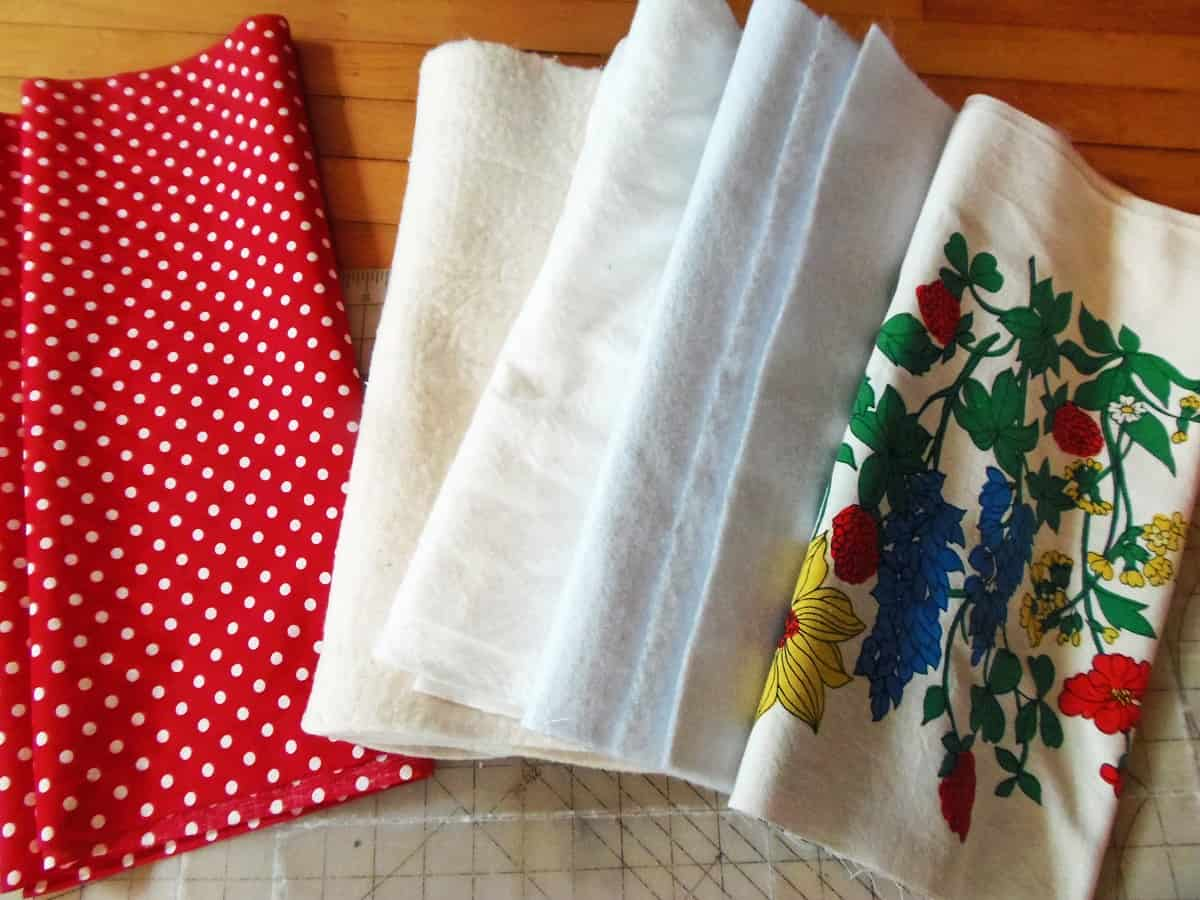 Supplies for Hot Pad Table Runner