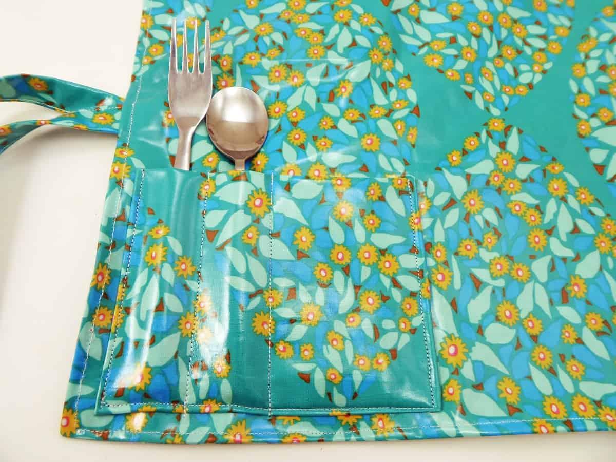 Closeup of Silverware and Napkin Pockets