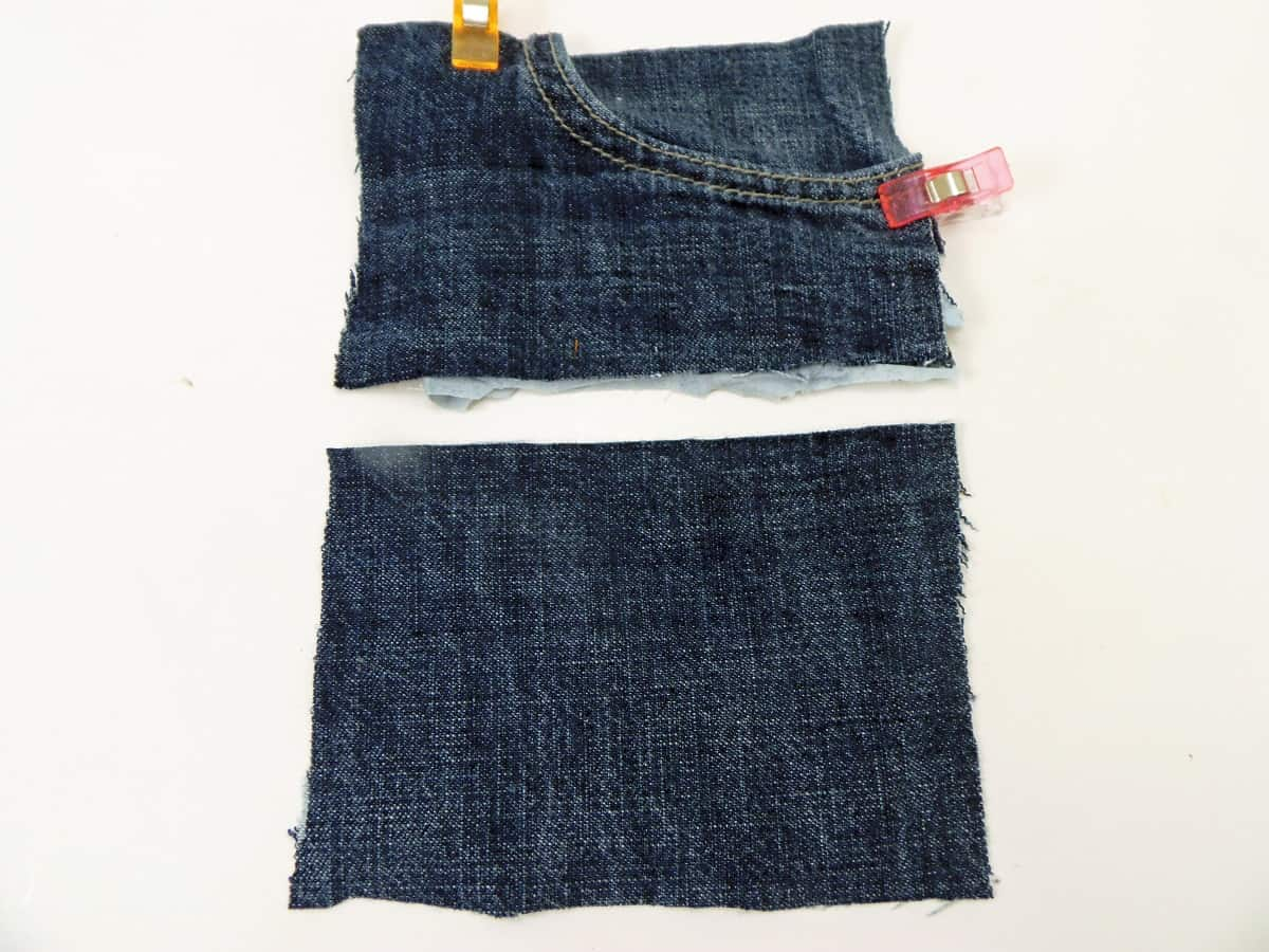 Cut Out the Front Pocket and a Rectangle of Denim the Same Size