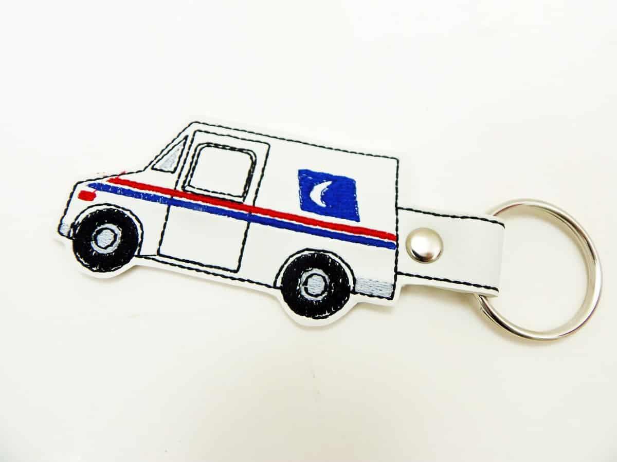 Mail Truck Keychain