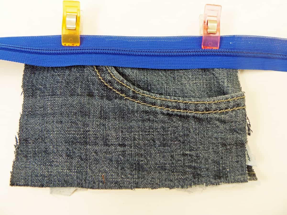 Position Zipper at Top of Jean Pocket