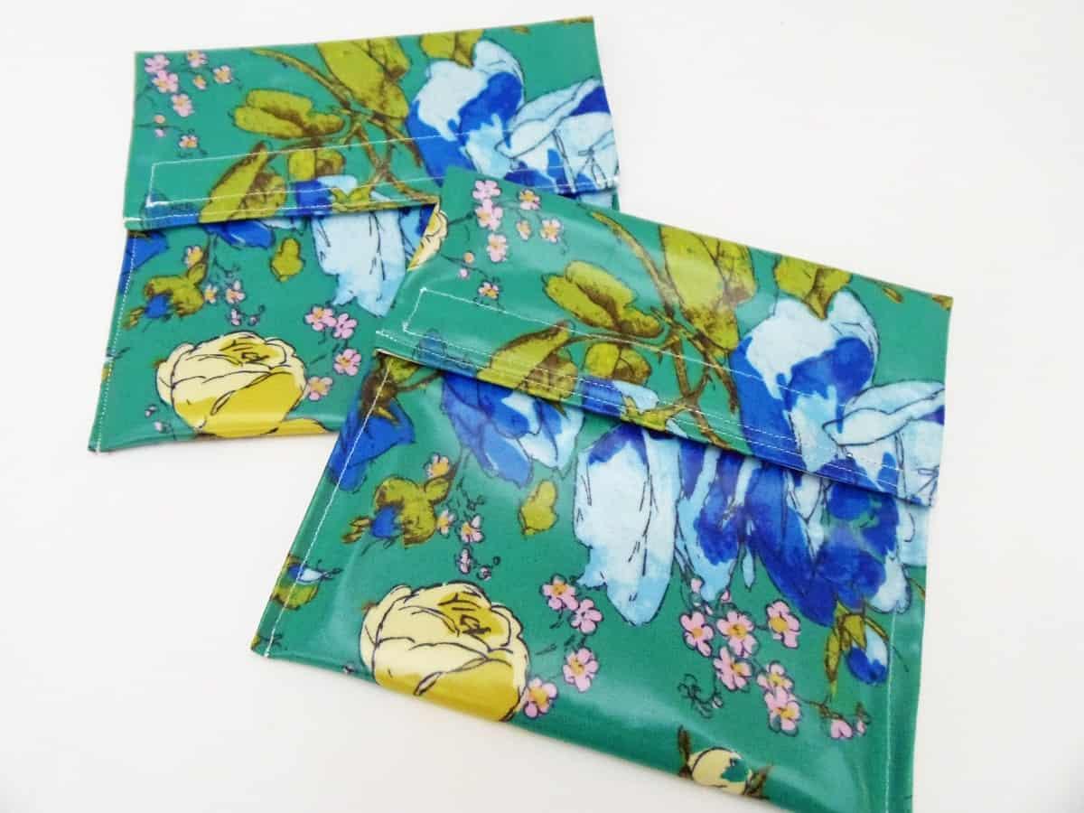 Reusable Sandwich Bags Large Floral Print