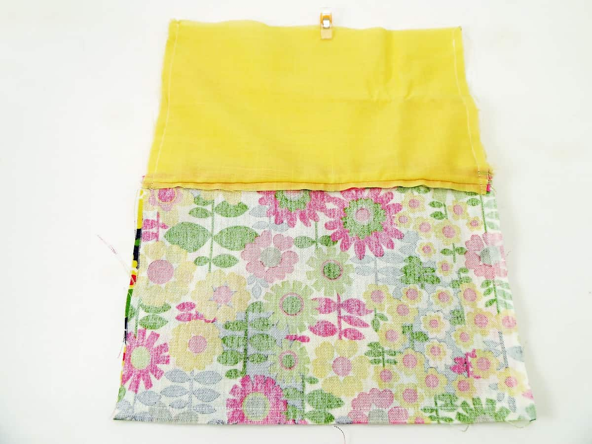 Sew Around Three Sides of the Pouch