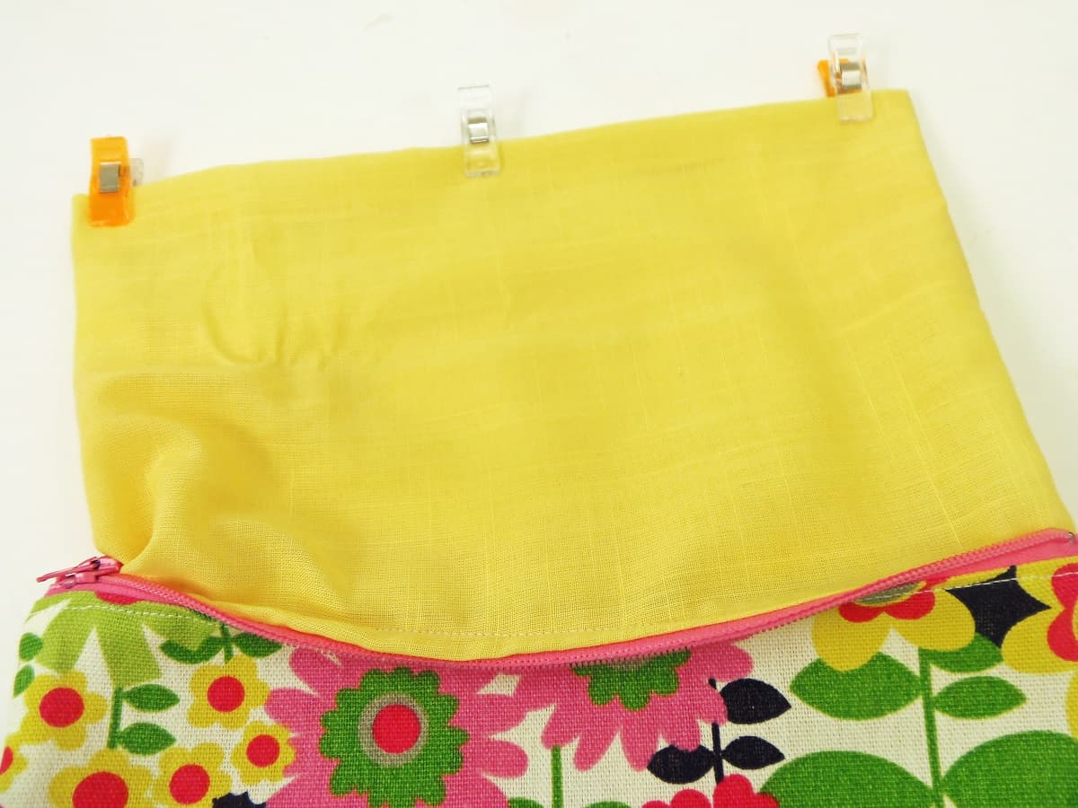Turn the Pouch and Pin the Bottom of the Lining Closed