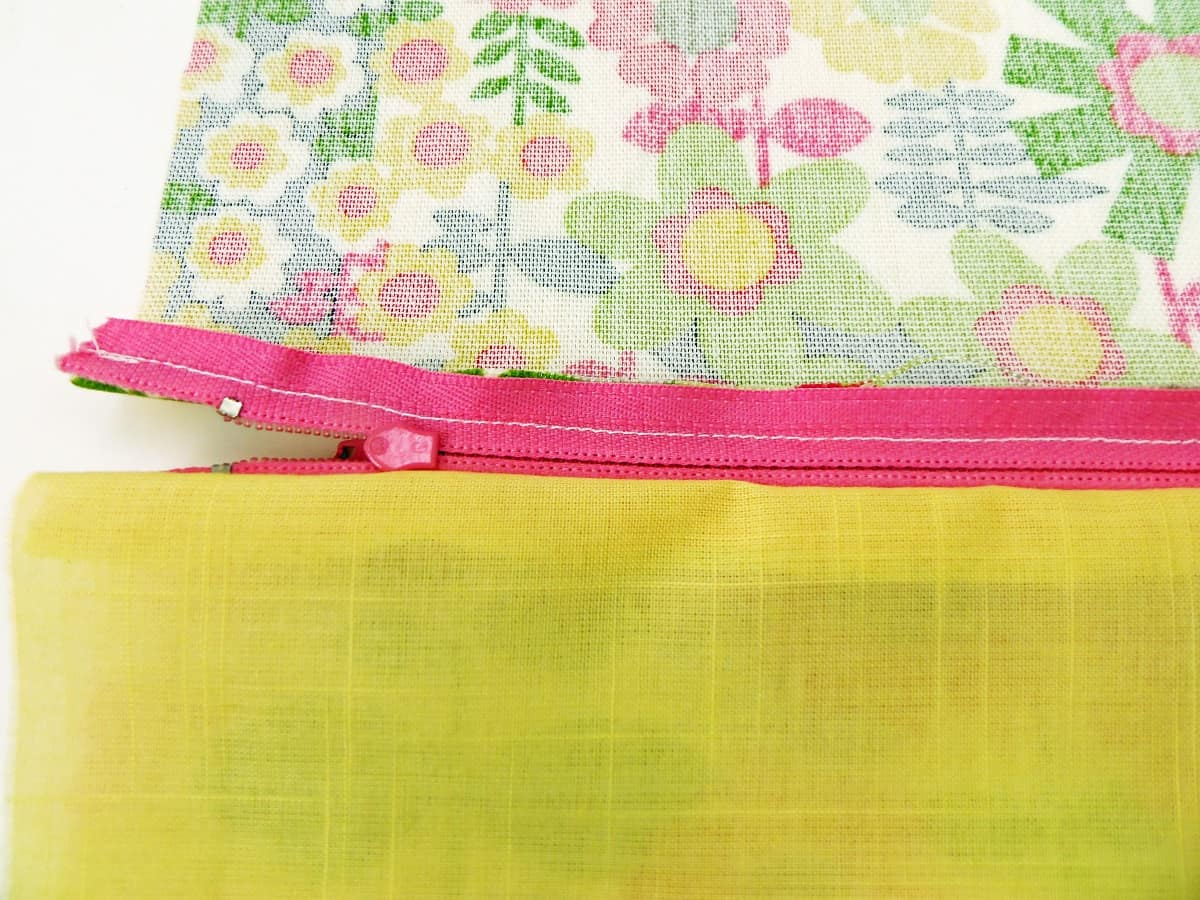 Zipper Bag With First Piece of Lining Attached