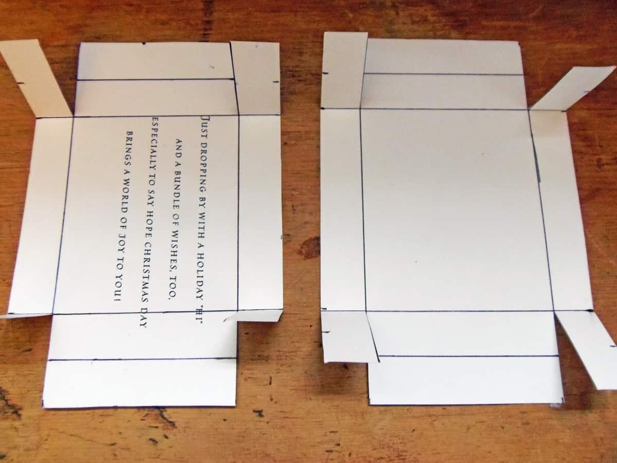 Cut and Fold Corners of Box Up
