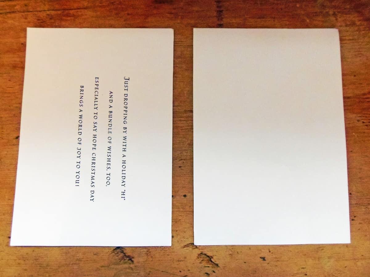 Cut Card in Half Along Fold