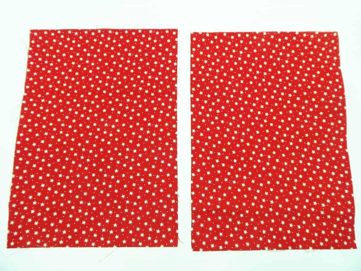 Cut Fabric for Drawstring Gift Bag
