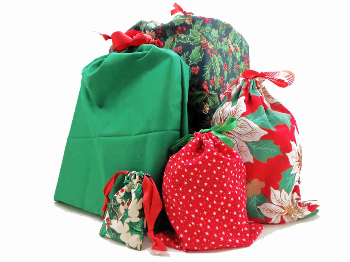 How to Sew Drawstring Gift Bags