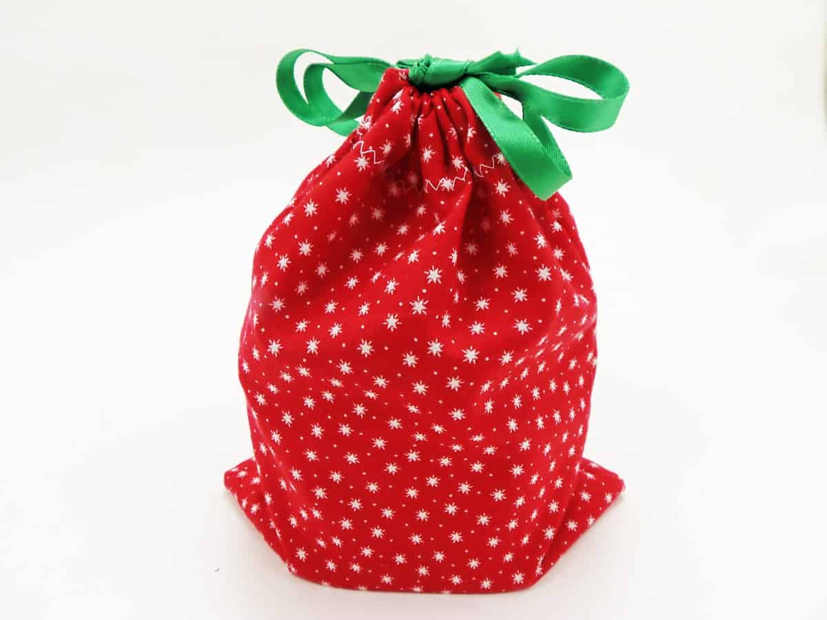 Drawstring Gift Bag With Gift Inside