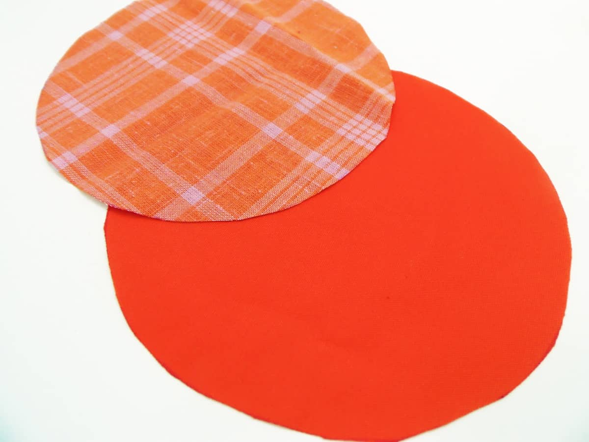 Fabric Circles for Can Cover