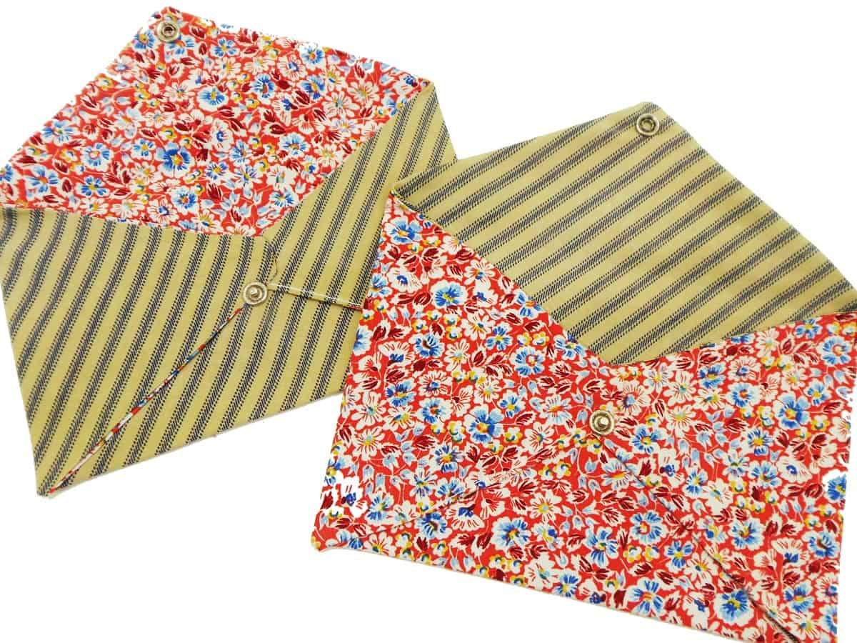 Fabric Envelopes With Flaps Open