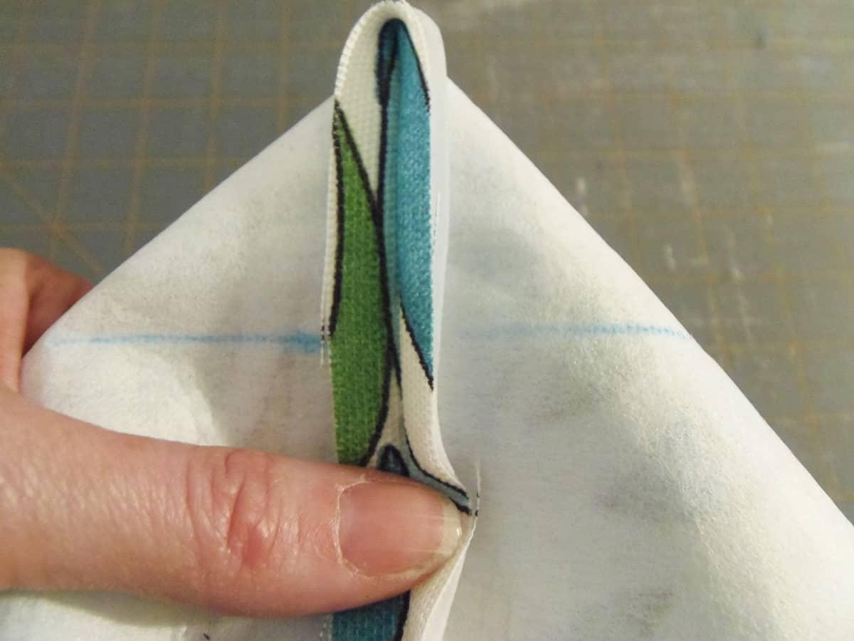Flatten Bottom of Side Seam Into a Triangle
