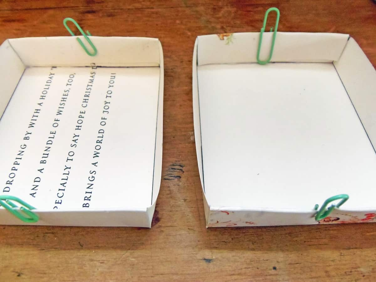 Fold Top of Flap Down Over Other Flaps to Form Sides of Box