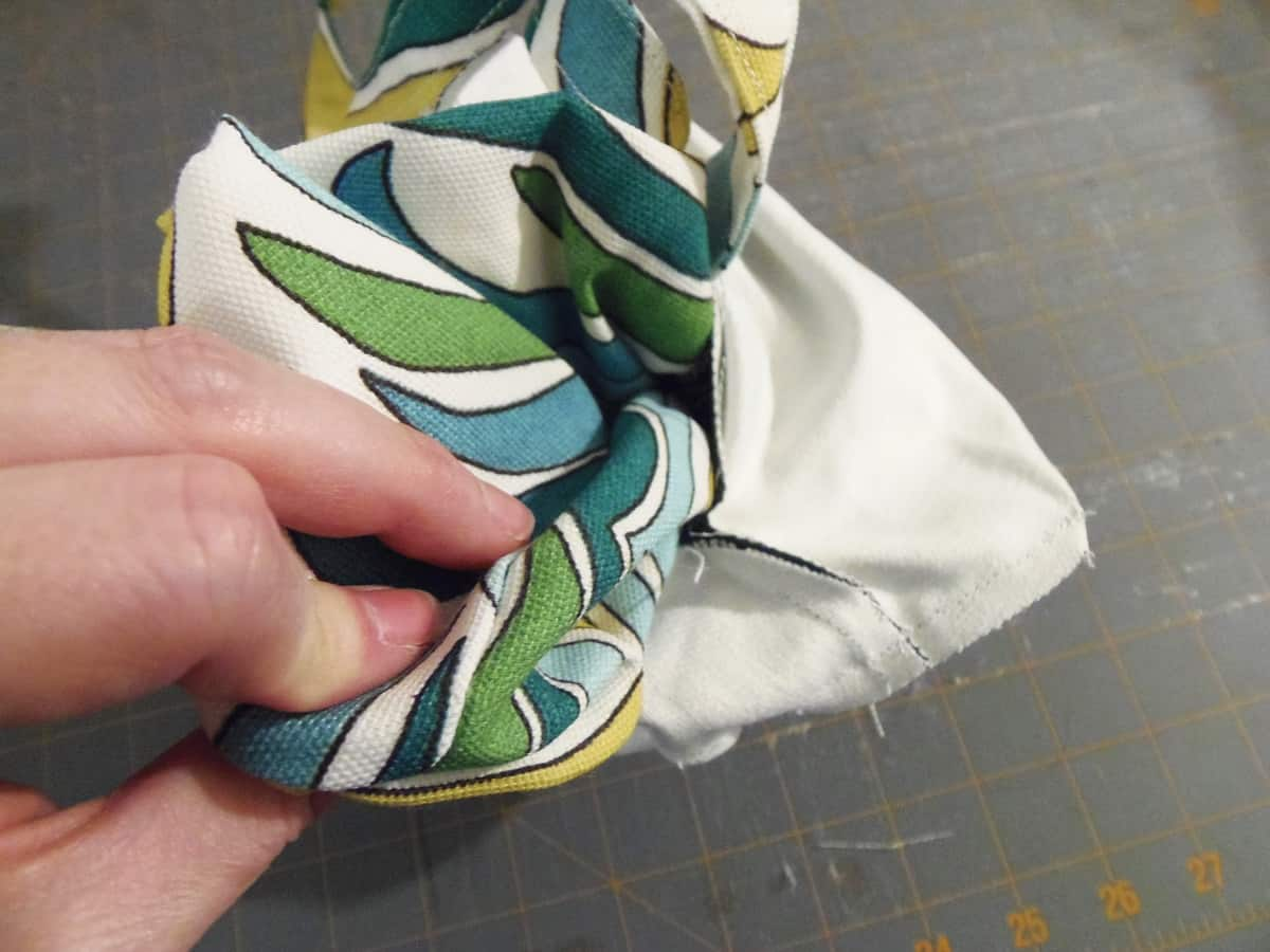Pull Exterior of Bag Through Seam to Turn Right-Side Out