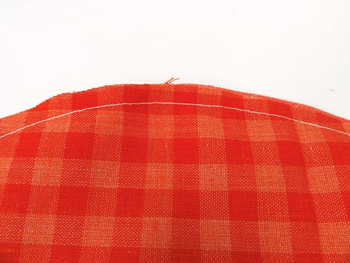 Sew a Quarter Inch Seam Around the Outside of the Circle