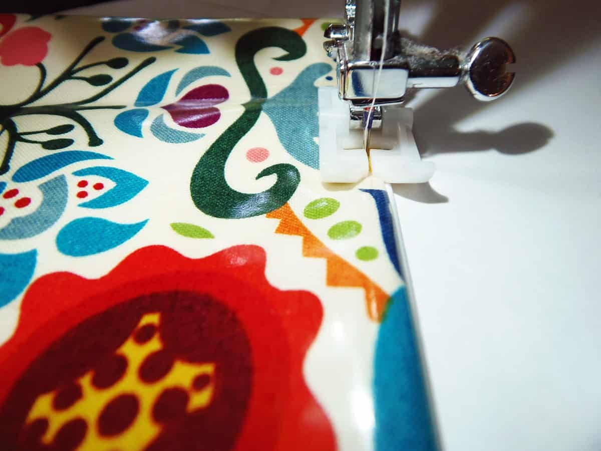 Sewing Laminated Cotton With Non-Stick Foot