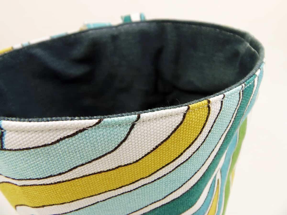 Top-Stitch Around Top of Car Trash Bag