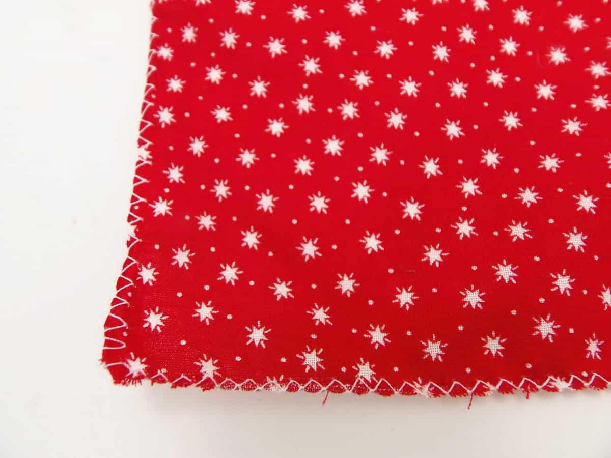 Zig Zag Stitch or Surge Around Three Sides of Fabric
