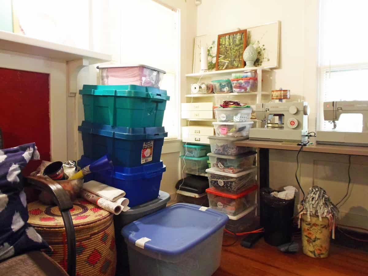 Area to the Left of My Sewing Table