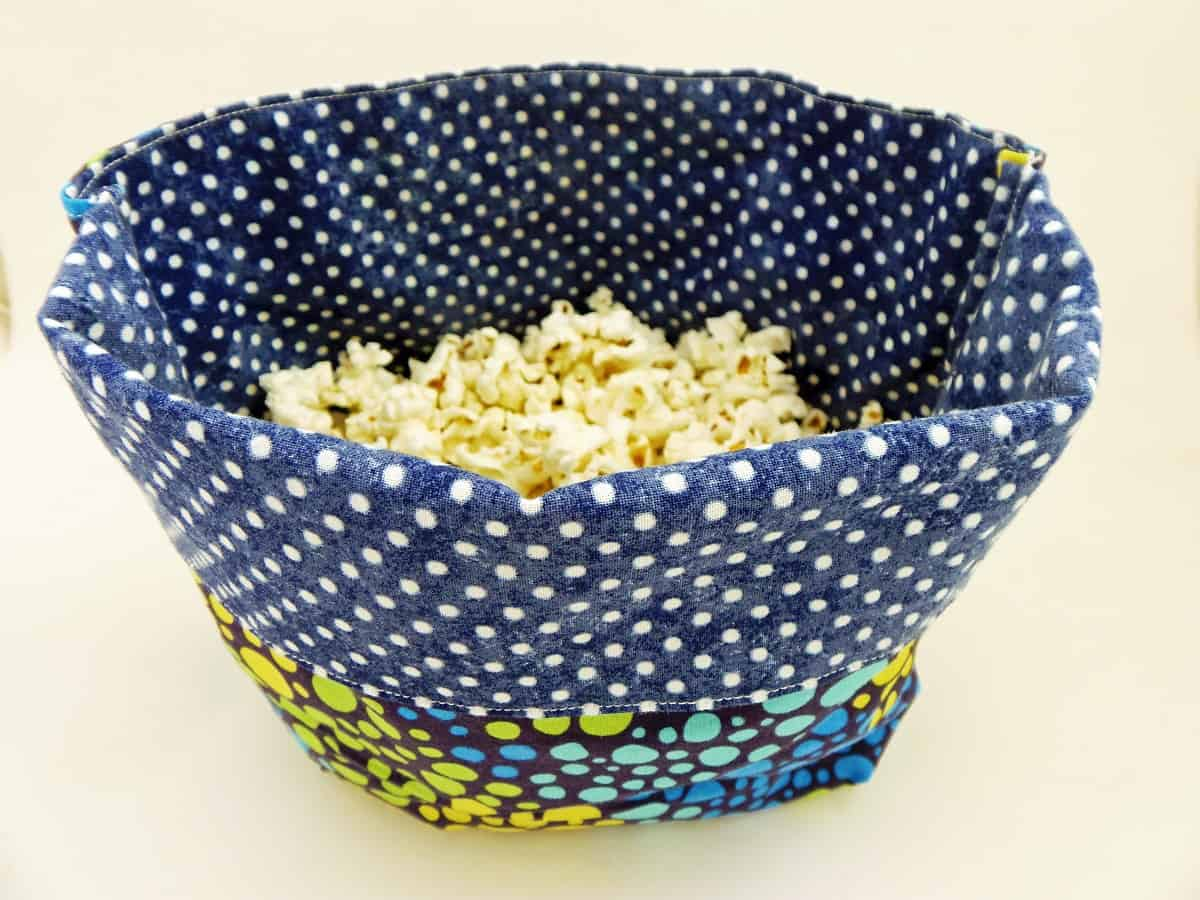 Closeup of Reusable Microwave Popcorn Bag