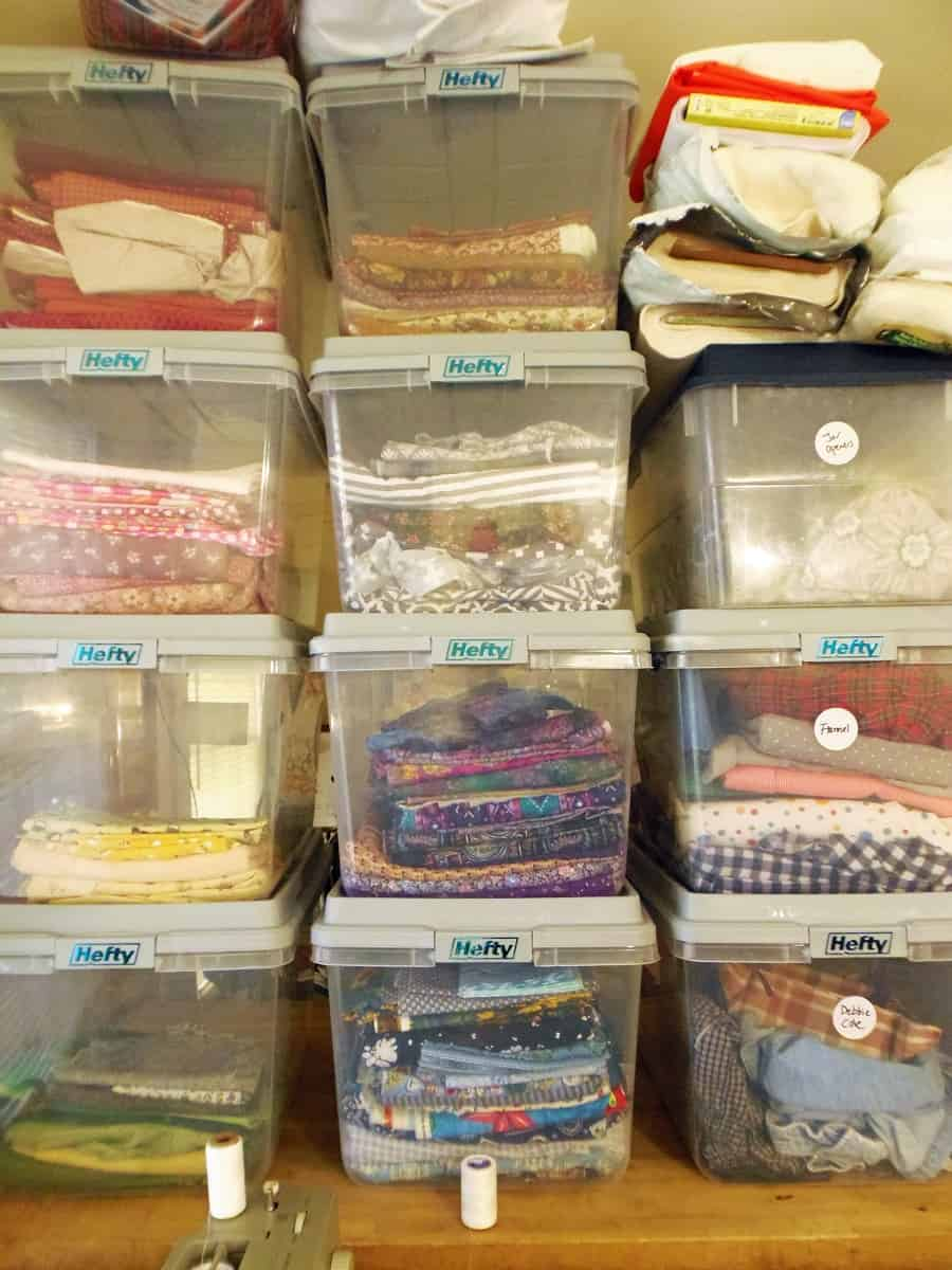 Cotton Fabric Organized By Color