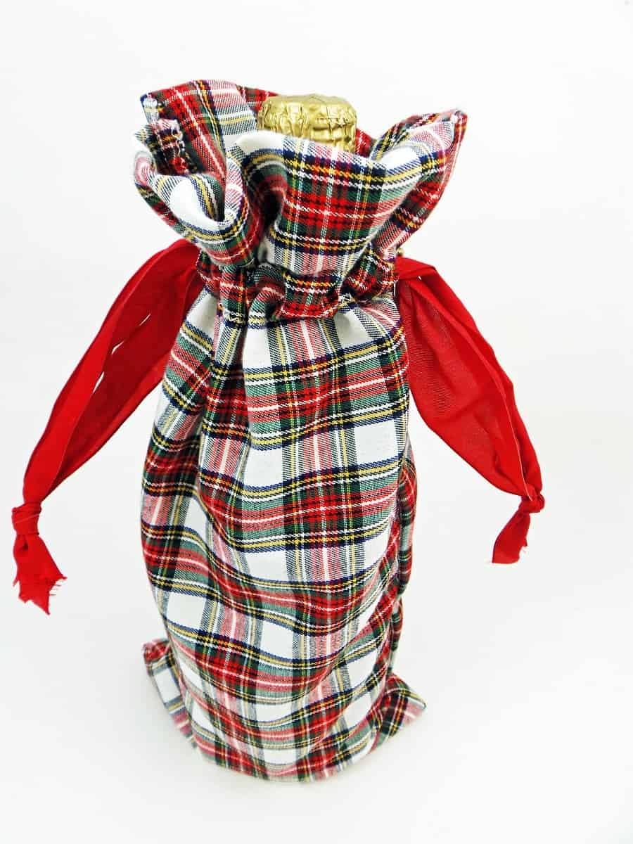 Bottle of Wine in Drawstring Gift Bag