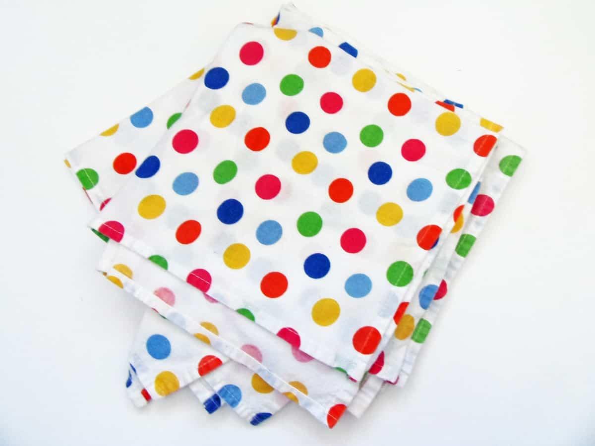 Rainbow Polka Dot Cloth Napkins