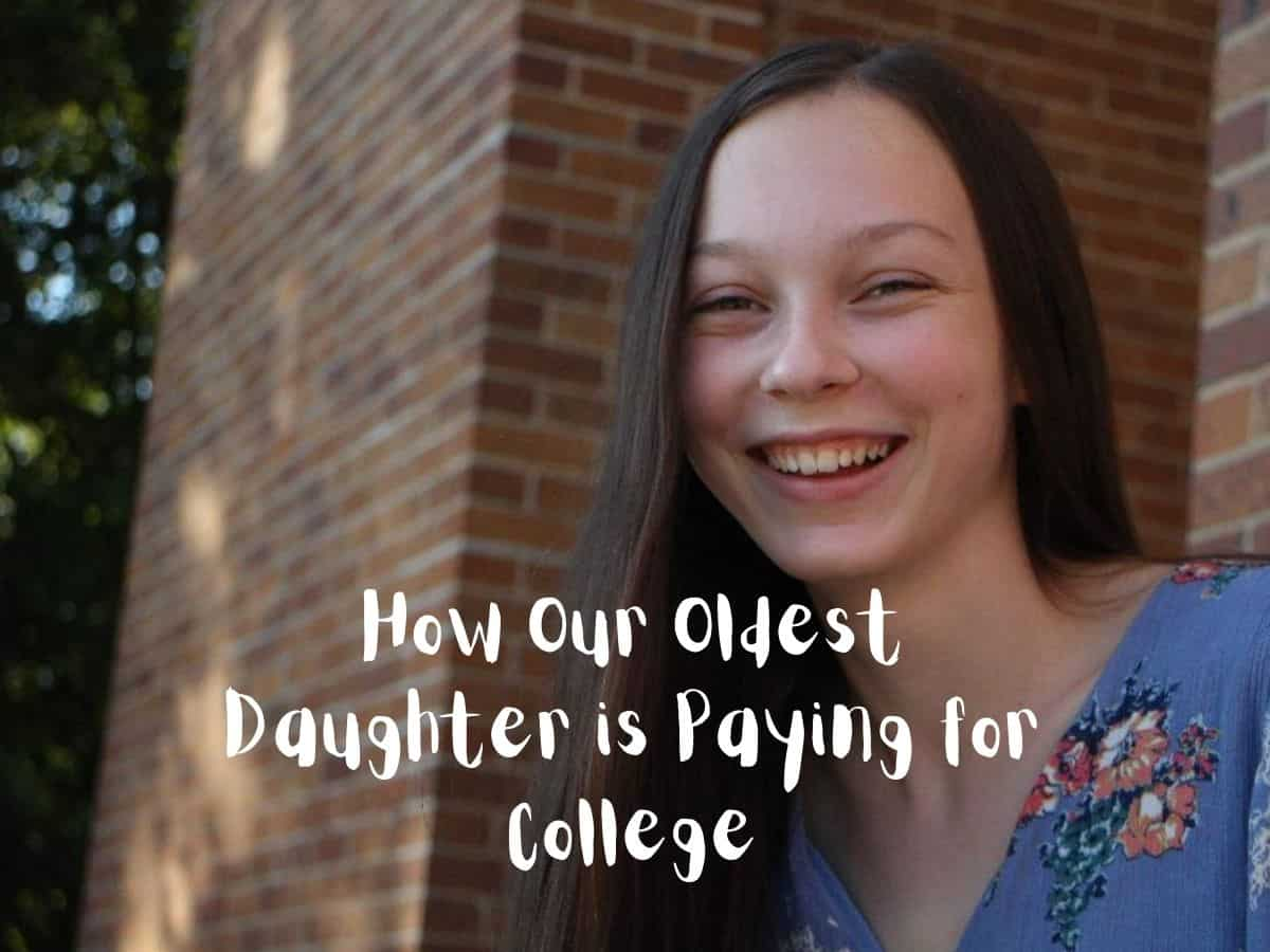 How Our Oldest Daughter is Paying for College Graphic