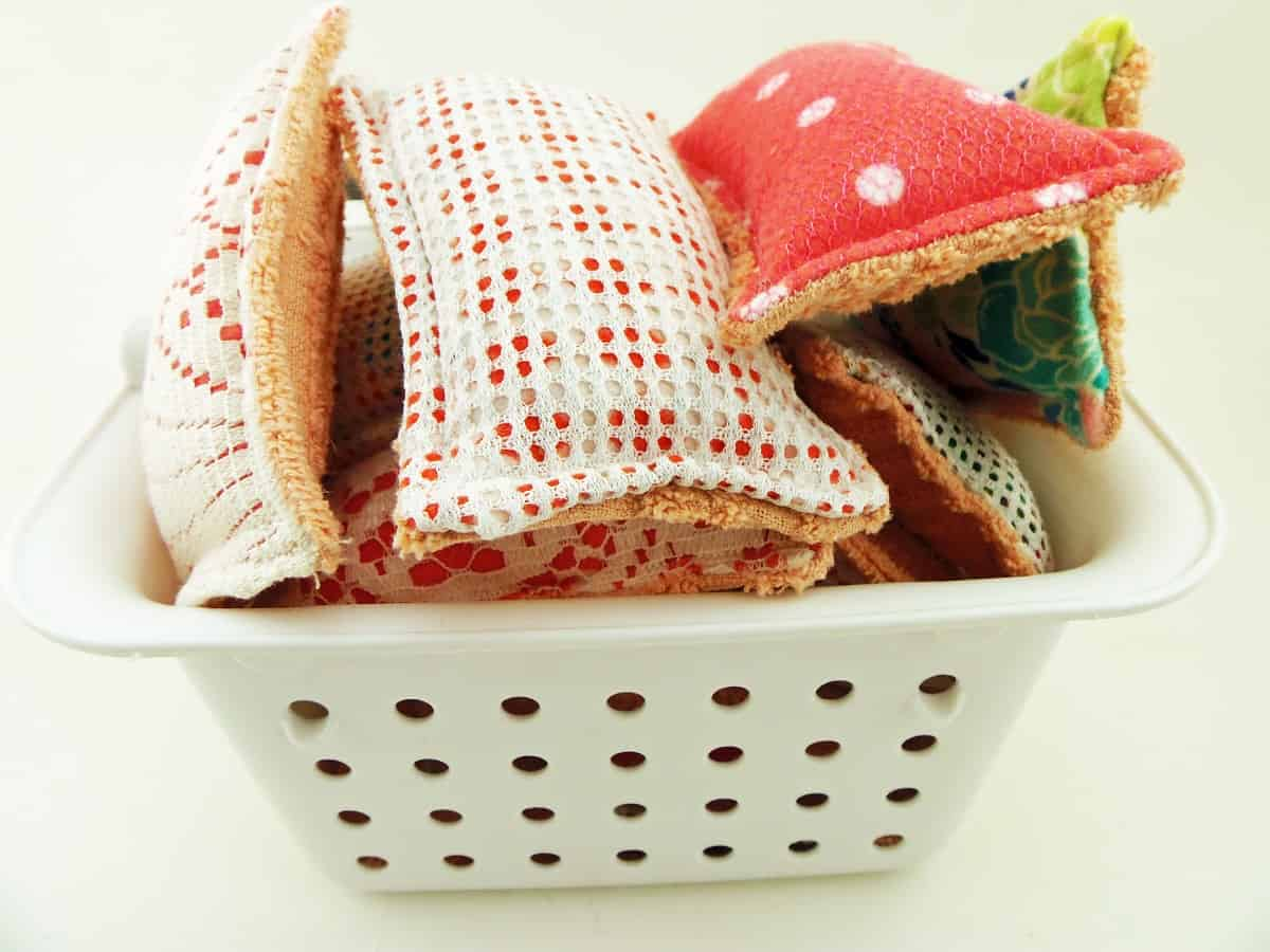 Basket of Reusable Sponges