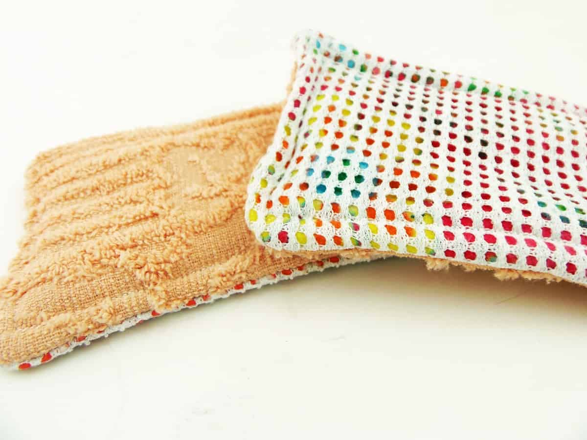 Reusable Sponges Made With Batting Scraps