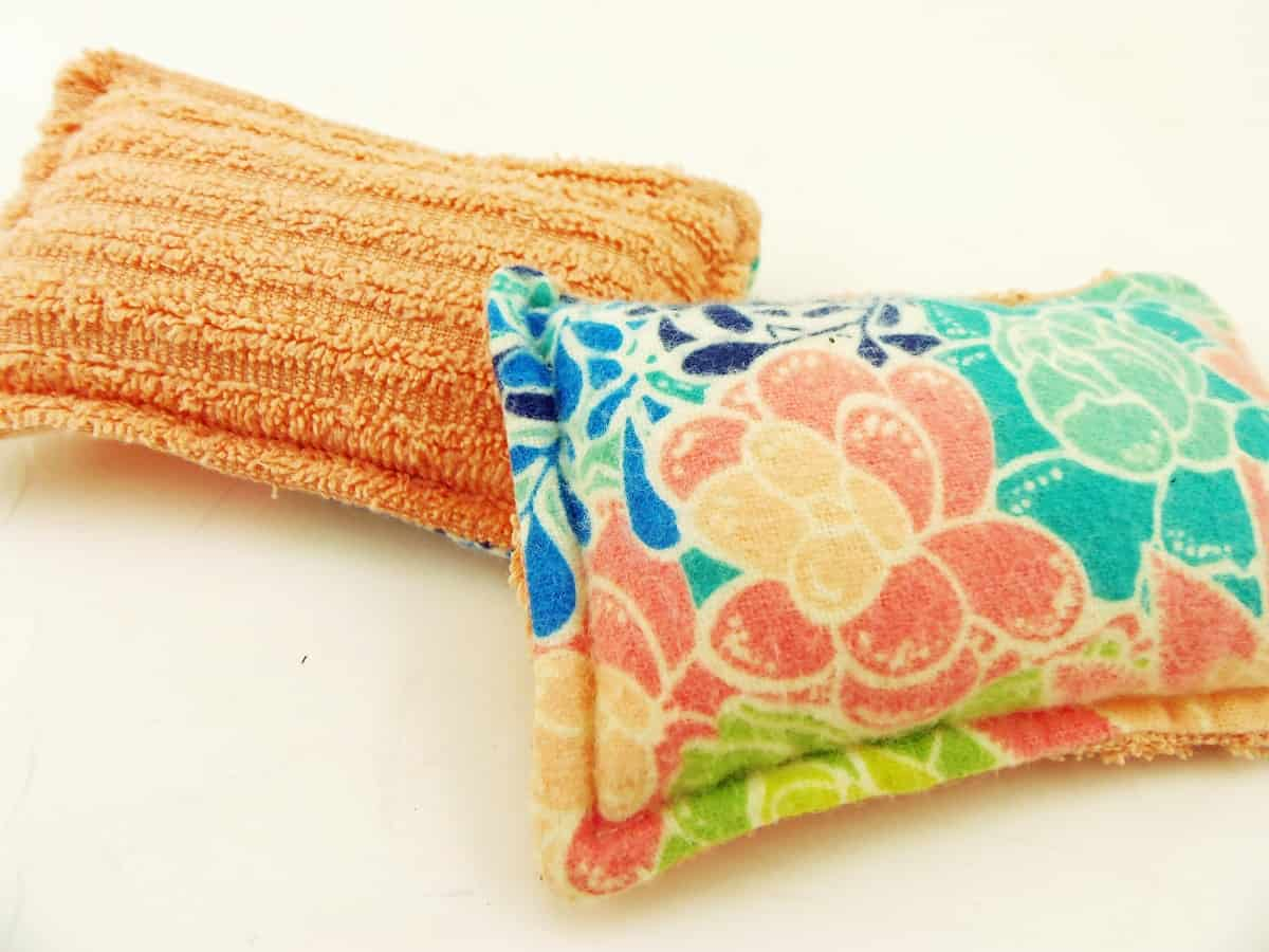 Reusable Sponges Made With Flannel and Terry Cloth