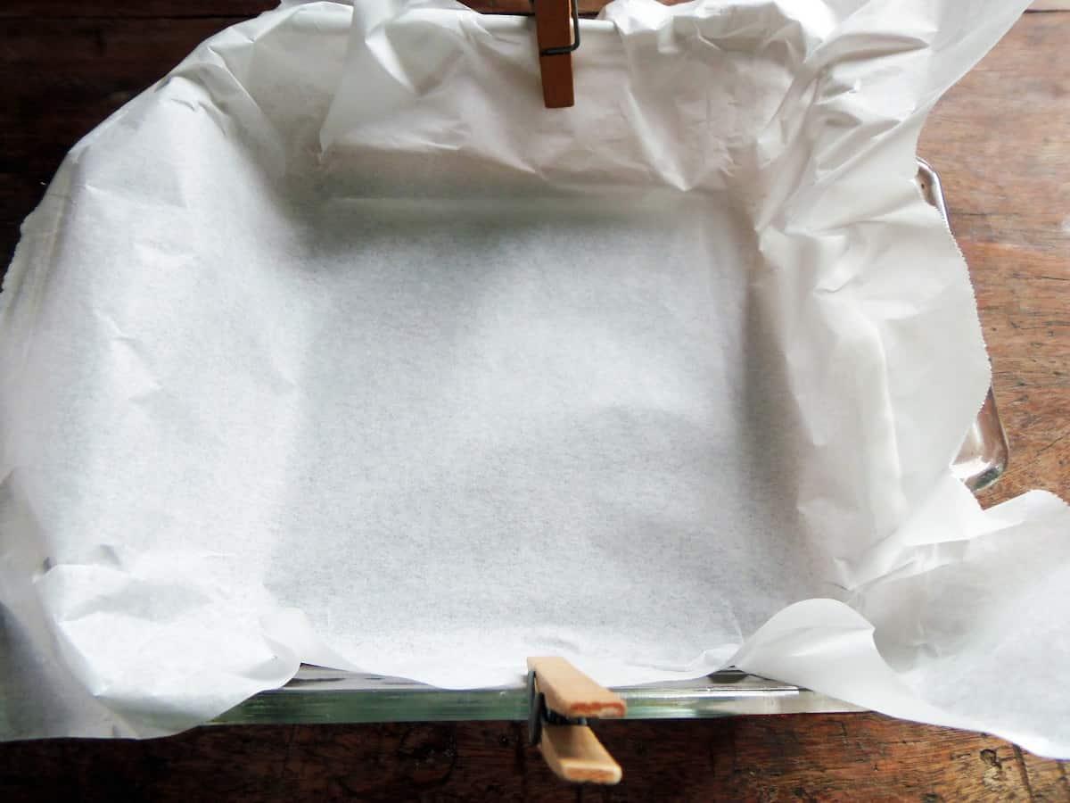 Parchment Paper-Lined Pan