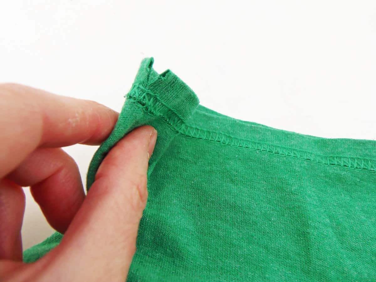 Cut a Slit in the Closed End of the Drawstring Channel
