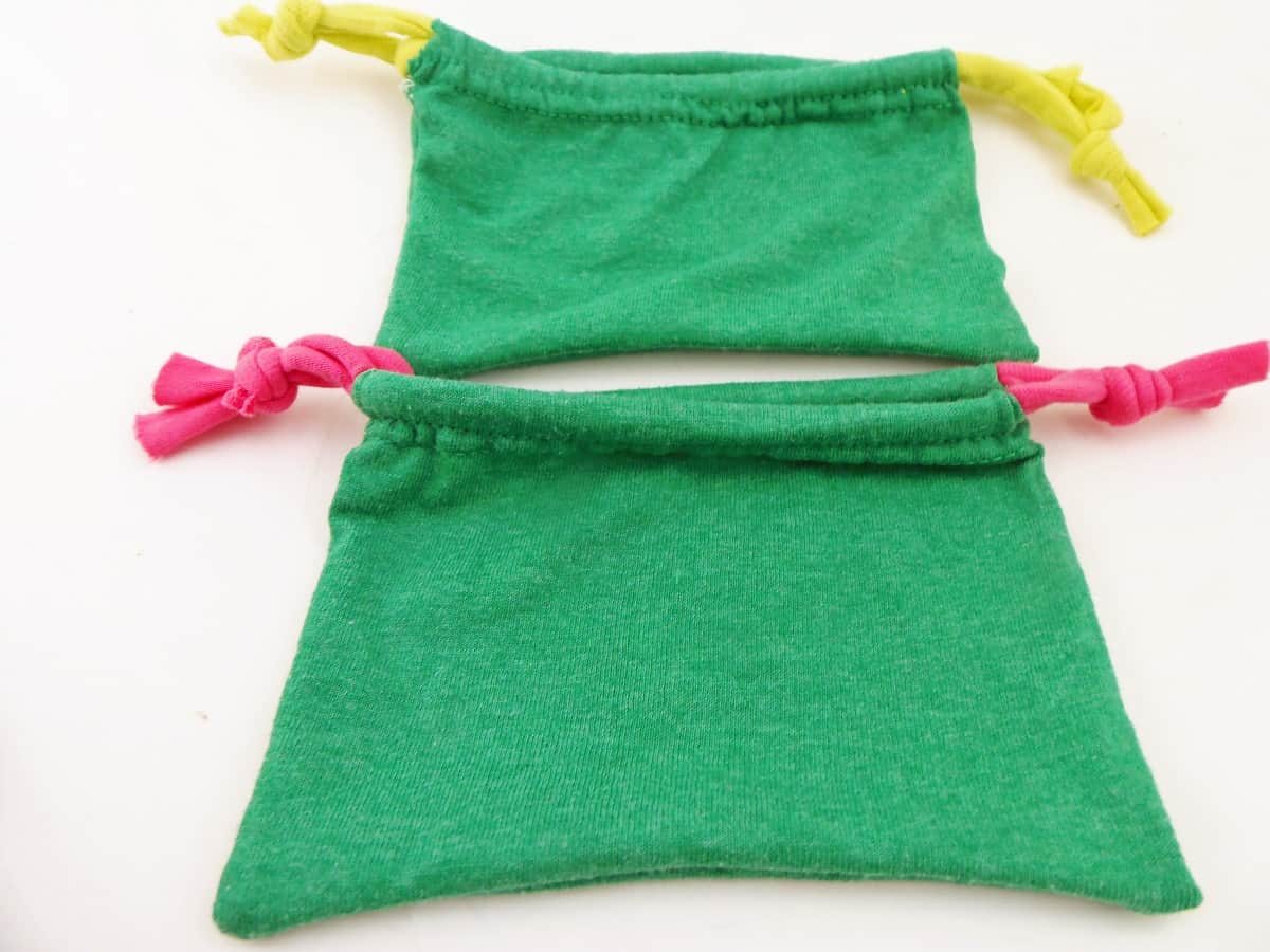 Gift Bags Made Out of T-Shirt Sleeves