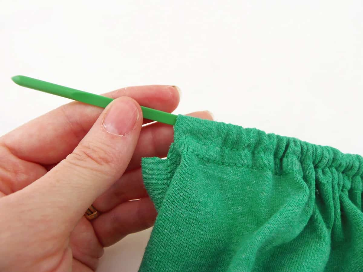 Pull the Drawstring Through the Other Side